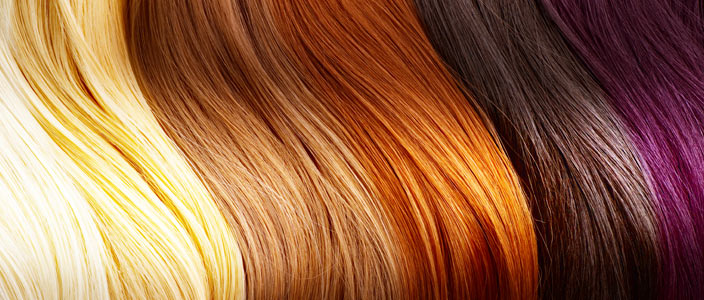 Synthetic hair many colors